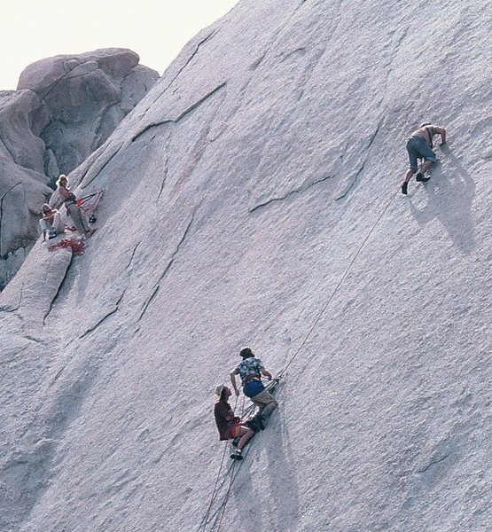 Exhibition on Dali Dome<br> 2nd Ascent by Fred East circa 1978
