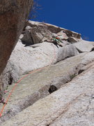 Rock Climbing Photo: Super fun sequence moving from the bolt to the nex...