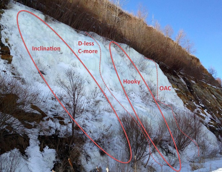 Routes on the Norther Slab