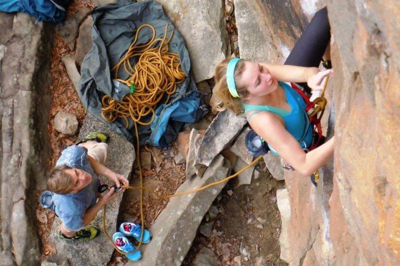 Rock Climbing Photo: Cruising the start of The Ten.