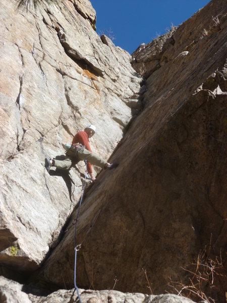 Rock Climbing Photo: Glen near the bottom.