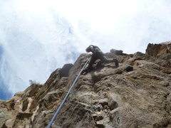 Rock Climbing Photo: Glen about halfway up.