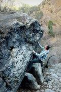 Rock Climbing Photo: Climbing on pocket boulder