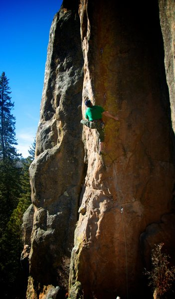 Rock Climbing Photo: Mighty fine arête climbing. January 2014.