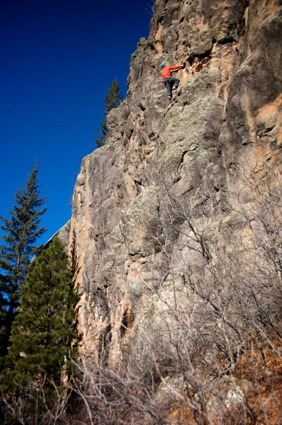 Rock Climbing Photo: After some initial harder moves down low it's all ...