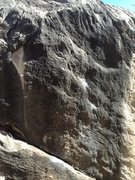 Rock Climbing Photo: Sorry for the bad photo. The route starts sitting ...
