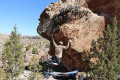 Rock Climbing Photo: Bag working Get the Gouda.