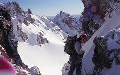 Rock Climbing Photo: Top of the 9 O'Clock Coulior Broken Top, OR