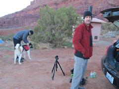 "Rock Climbing Photo: Kieth with his ""gopro quadcam"""