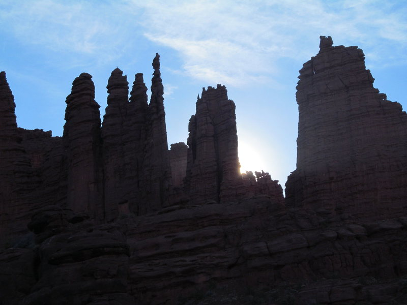 Sunrise at the Fisher Towers