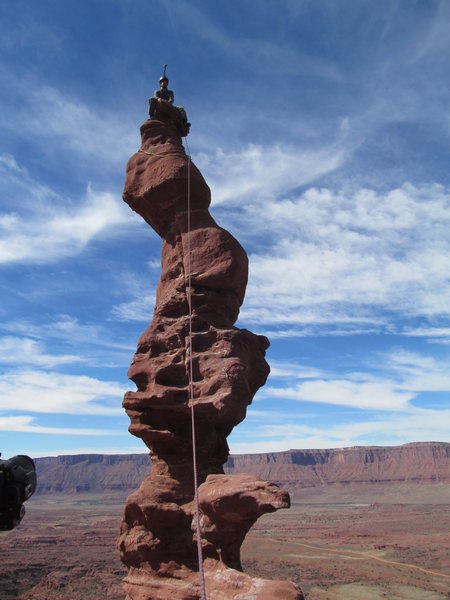 Rock Climbing Photo: Keith on summit, Ancient Art