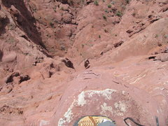 Rock Climbing Photo: looking down the sw face from the top of Ancient A...