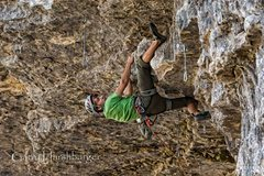 Rock Climbing Photo: Really fun clipping stance.