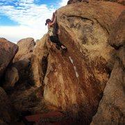 Rock Climbing Photo: Christina Durtschi flashing it