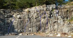 Rock Climbing Photo: Original Route Direct is #19 in the photo, the par...
