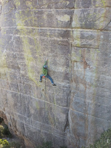 Rock Climbing Photo: Liam on Hebe