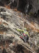 Rock Climbing Photo: My first Lead was in December 2011 on a low rated ...