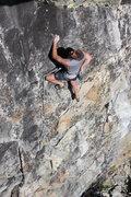 Rock Climbing Photo: gary allan walkin up hot rod 11a. larry land, bowm...