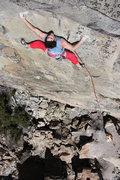Rock Climbing Photo: gabe metzger on larry land .11c, bowman valley, ca