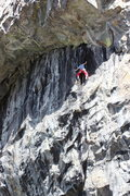 Rock Climbing Photo: gabe topping out on hot rod .11a, larry land, bowm...