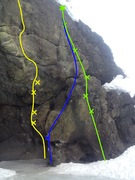 Rock Climbing Photo: Two Assholes and Five Nice Bolts (With alternative...
