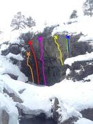 Rock Climbing Photo: Fission Bowl from Kjøkkentrappa