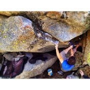 Rock Climbing Photo: Aron couzens getting tricky
