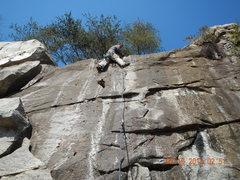 Rock Climbing Photo: Near the end of The Streaks. Good Fun!