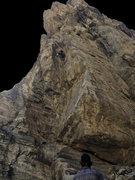 Rock Climbing Photo: Gwyn on Bosch It above the crux.