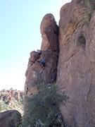 Rock Climbing Photo: Carol on 'Reciprocity'.