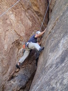 Rock Climbing Photo: Chuck showing his chimney moves on 'Chimney sweep'...