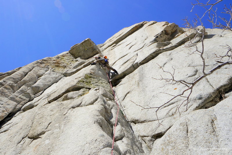Rock Climbing Photo: Equipment Overhang Right in LCC