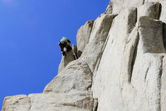 Rock Climbing Photo: Getting the horn on Half a Figure