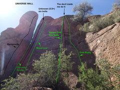 Rock Climbing Photo: Universe Wall - beta
