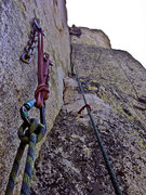 Rock Climbing Photo: P2 of the Steeple's regular route.  As with most a...