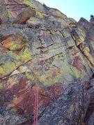 Rock Climbing Photo: Upper Peanuts rap #2. This rap is 30m long - mind ...