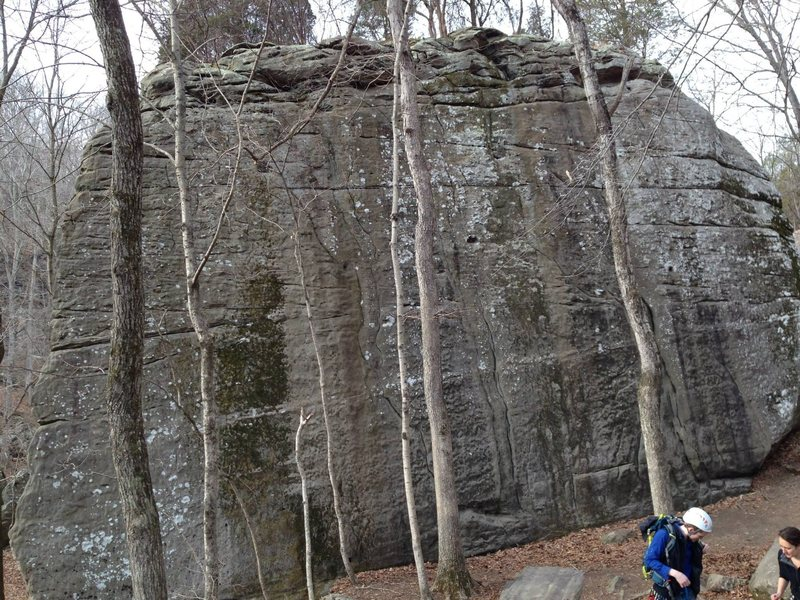 Rock Climbing Photo: Shot of Spleef Peak, including the two easiest rou...