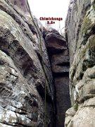 Rock Climbing Photo: Fun stemming!