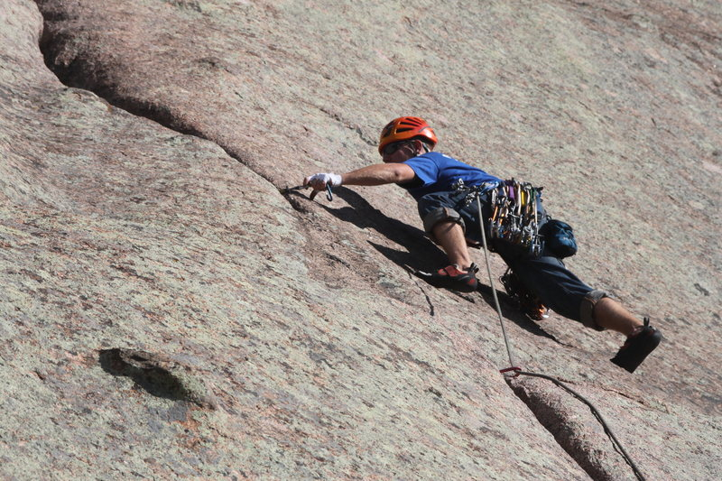 Rock Climbing Photo: I think this was the crux. Eric placing gear.