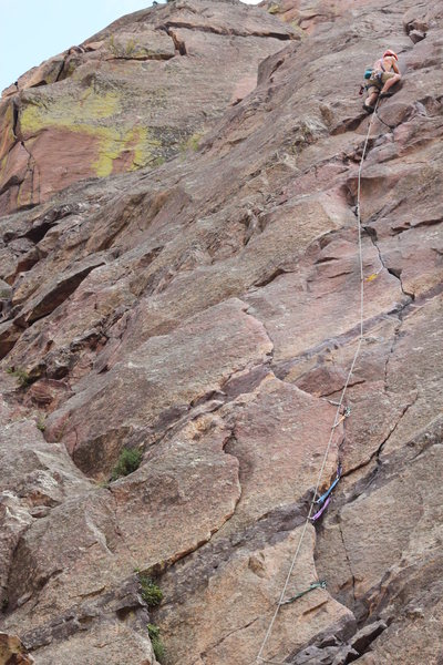 Rock Climbing Photo: More of the route. Sewing it up.