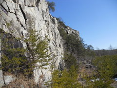 Rock Climbing Photo: Looking at the Top Rope Buttress from below Gatewa...