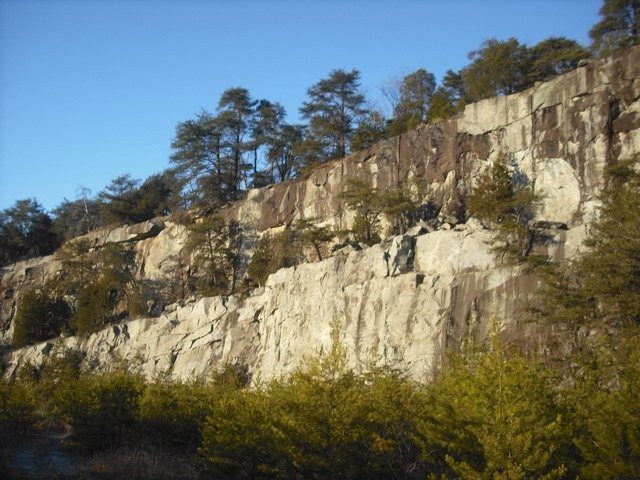 Another view of the Top Rope Buttress and the Upper Ledge from 2010.