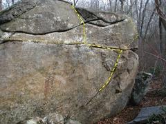 Rock Climbing Photo: Crack Sit