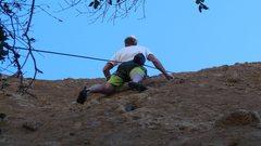 Rock Climbing Photo: Past the crux.