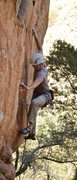 Rock Climbing Photo: A foot adjustment after pulling the brutal move of...
