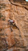 Rock Climbing Photo: Tricky feet leading to good holds near the fourth ...