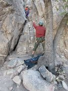 Rock Climbing Photo: Rock Climbing on Good and Plenty in Cochise Strong...