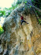 Rock Climbing Photo: Yep, that thing covering my right shoulder is a tu...