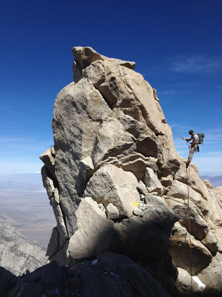 Rock Climbing Photo: Mark Collar rappelling the final tower on the NERL...