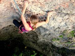 Rock Climbing Photo: Barb on Yan Gabriel.
